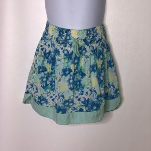 Abercrombie kids girls floral pull on skirt